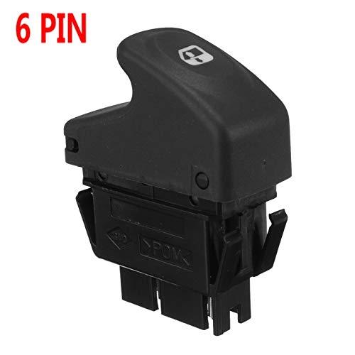 OLDJTK El Interruptor 6 de Ventana eléctrica Pin Coche de Control for Renault Clio II Megane I BA0 BA1 EA0 EA1 DA0 Kangoo KC0 KC1 FC0 FC1