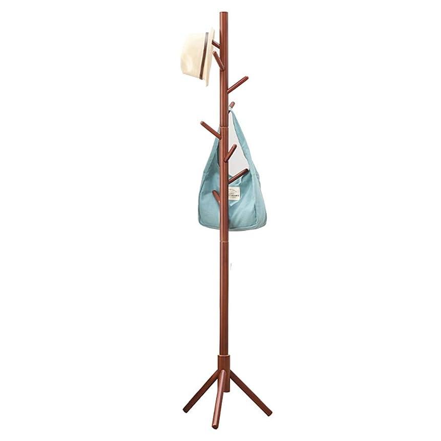 セクタパス感性ハンガー, 純木取り外し可能な枝シングルショット三角形のシャーシ複数のフックハンガー TINGTING-ハンガーラック (Color : Brown, Size : 40*180cm)