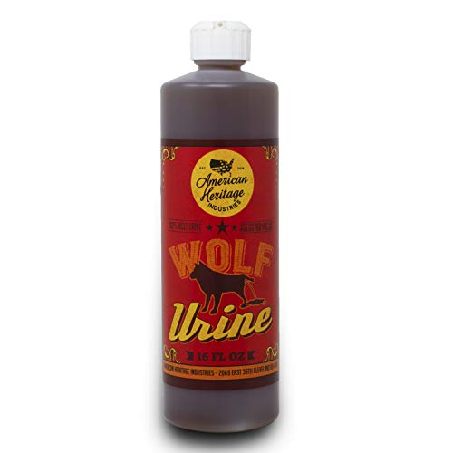 American Heritage Industries 16 oz Wolf Urine- Protect Your Garden with Real Predator Urine