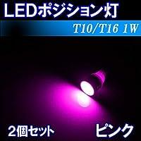 ノート E11 ポジションランプ T10 LED ポジション球 ピンク 2個セット 日産 E11