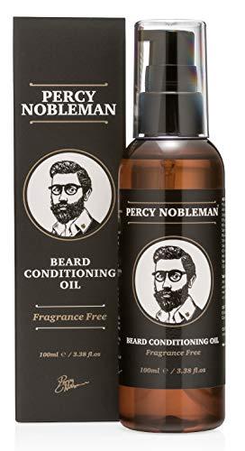 Huile pour barbes - Huile de conditionnement pour barbes de Percy Nobleman - Adoucisseur pour barbes et produits revitalisants pour homme, un poil assoupli, une barbe douce, souple et lisse (100ml)
