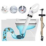 INTEY Sturatore per WC - con Pompa ad Alta Pressione, Sbloccatore per Tubi con 3 Ventose e Gonfiatore per Pulizia Lavandino, Vasca, Lavabo, Piscina