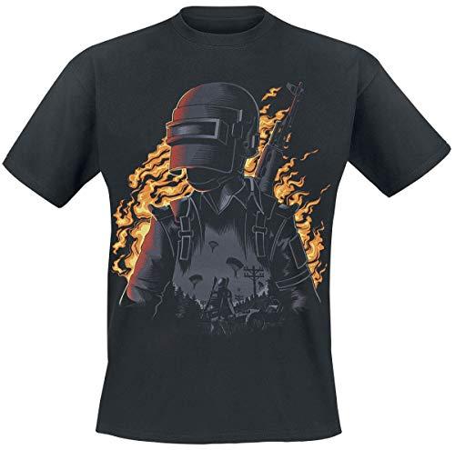 Playerunknown's Battlegrounds PUBG - Character Männer T-Shirt schwarz M
