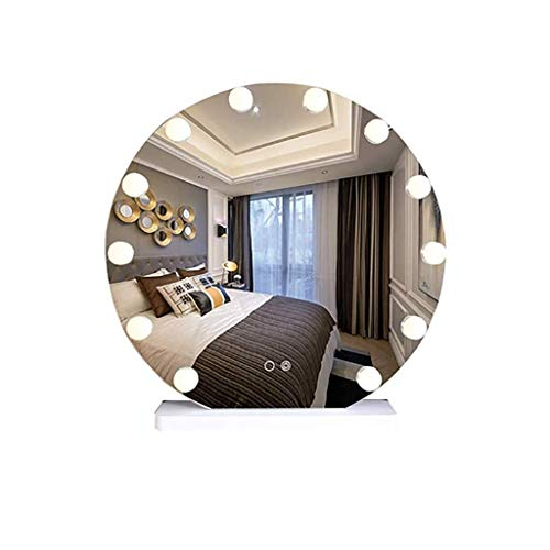 Chenbz Espejo cosmético Redondo, baño LED Espejo de Pared de Pared de Pared Espejo de baño Espejo de Pared