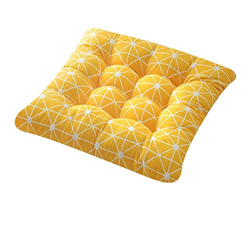 Polyy Yee Solid Patio Seat Cushion 4040CM Square Chair Pad Home Floor Cushion Throw Pillows Indoor/Outdoor with String Ties