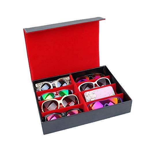 MUY Gafas de Sol Display Organizador de Almacenamiento Contenedor Caja de Almacenamiento para Viajes o Regalos de cumpleaños Bandeja de joyería Caja de Caja