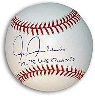 Autographed Chris Chambliss Rawlings Official Major League Baseball Inscribed 7778 WSC - COA Included Signature