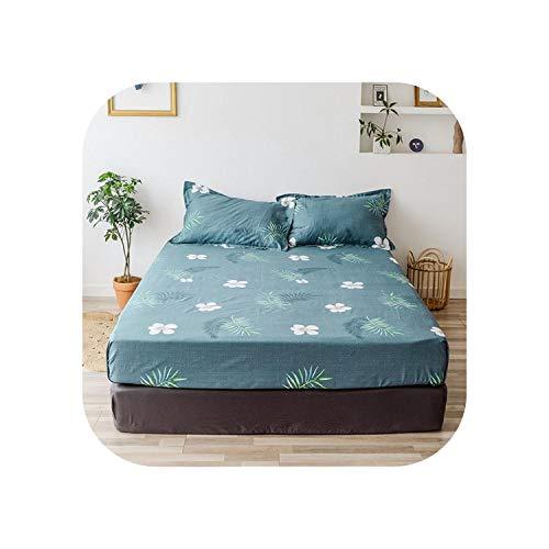 Star Harbor Bettgarnituren |2020 1 Stück Baumwolldruck Bettmatratze Set mit Vier Ecken und Gummibändern-lankasha-80X200X25cm