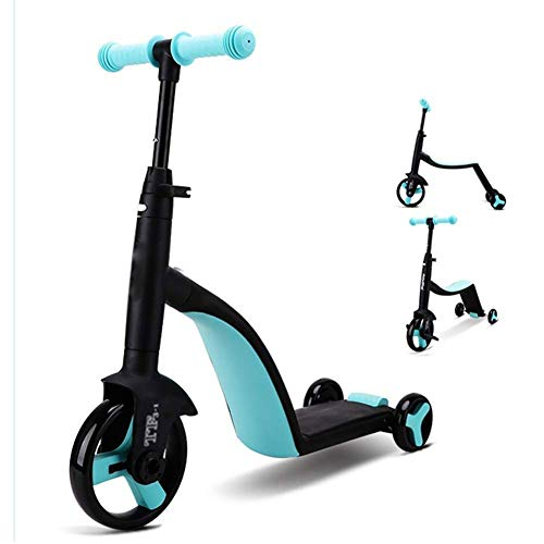 Affordable Lcxliga Children's Scooter, Three-in-one Pedal, Can Sit 1-2 Years Old Baby Tricycle