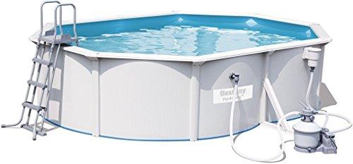 Bestway Hydrium Pool Set oval, weiß, 500 x 360 x 120 cm