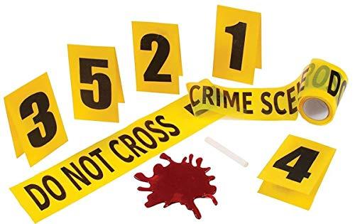 Fun World 91305 Set Kriminalszene gelb, 13 x 3 x 7 cm