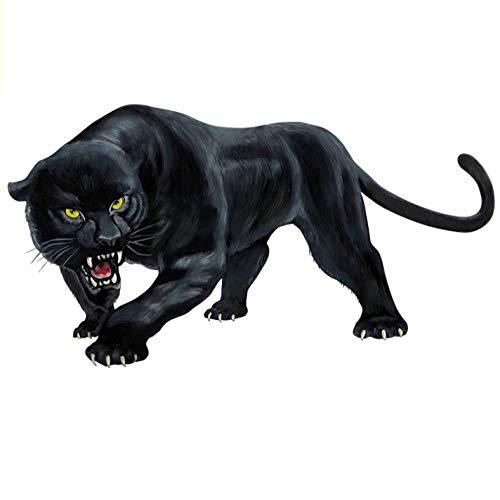 Kllomm 3 Stück Persönlichkeit Tier Auto Aufkleber Black Panther Roaring Vinyl Aufkleber Abdeckung Kratzer, 15 cm * 8 cm