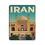 Iran Retro City Reise Poster Leinwand Kunst Retro Poster