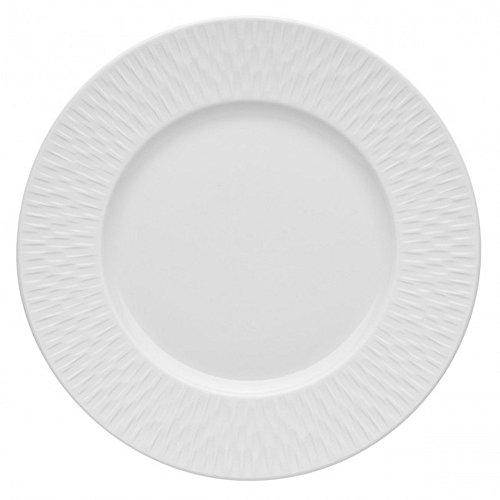 DEGRENNE - Boreal Satin Lot de 6 assiettes à dessert ronde porcelaine 22,5 cm - Blanc