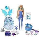 Barbie Color Reveal Hada, muñeca sorpresa con accesorios de moda, pulsera de juguete y mascota sorpresa (Mattel GXV94)