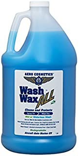 Aero Cosmetics Wet or Waterless Car Wash Wax 128oz Aircraft Quality for Your Car, RV, Boat, Motorcycle. Wash and Wax Anywhere, Anytime, Home, Office, School, Garage, Parking Lots