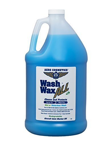 Aero Cosmetics Wet or Waterless Car Wash Wax 128 Ounces. Aircraft Quality for Your Car, RV, Boat, Motorcycle. The Best Wash Wax. Anywhere, Anytime, Home, Office, School, Garage, Parking Lots.