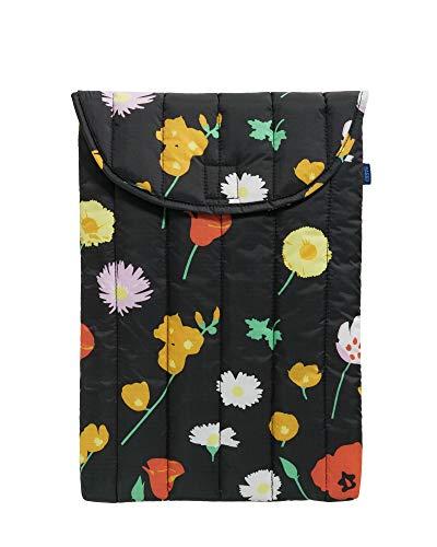 BAGGU Puffy Laptop Sleeve, Ripstop Nylon 16' Electronics Sleeve, Desert Wildflower