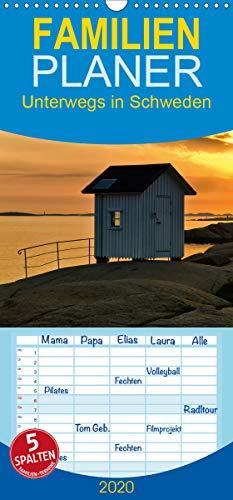 Unterwegs in Schweden - Familienplaner hoch (Wandkalender 2020, 21 cm x 45 cm, hoch)