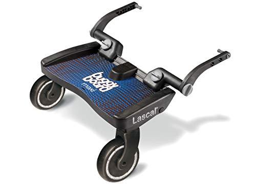 Lascal BuggyBoard Maxi, Kinderbuggy Trittbrett mit großer Stehfläche, Kinderwagen Zubehör für Kinder von 2-6 Jahren (22 kg), kompatibel mit fast jedem Buggy und Kinderwagen, blau