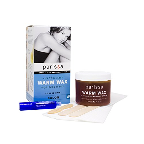Parissa Natural Hair Remover Microwaveable Warm Wax 4 Ounce