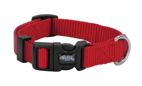 Nylon Prism Snap-N-Go Collar by Weaver Leather, Red, 5/8