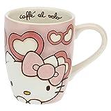 THUN ® - Mug Hello Kitty Cuori per tè, caffè, tisana - Porcellana - 250 ml - Ø 8,5 cm