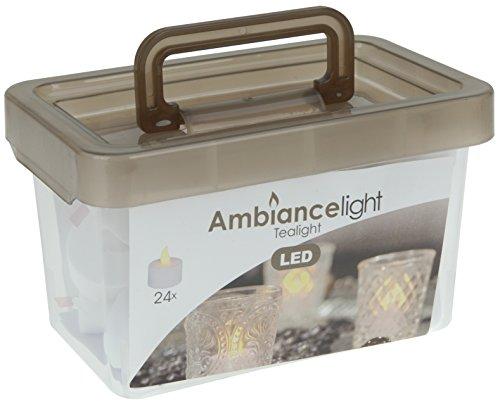 """Home&Style """"flackernde Kerzen"""", 24 LED Teelichter, inklusive Batterien, 638120"""