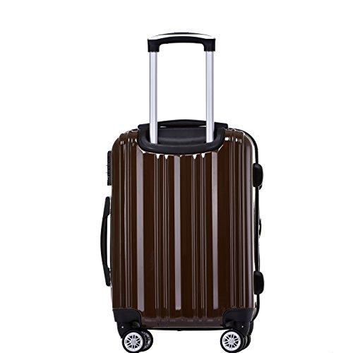 Münicase Münicase TSA-Schloß Koffer Reisekoffer Trolley Kofferset (Coffee, 3tlg. Kofferset)