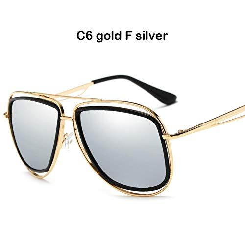 CCGSDJ zonnebril oversize voor heren met getinte glazen voor dames vintage met metalen frame UV400