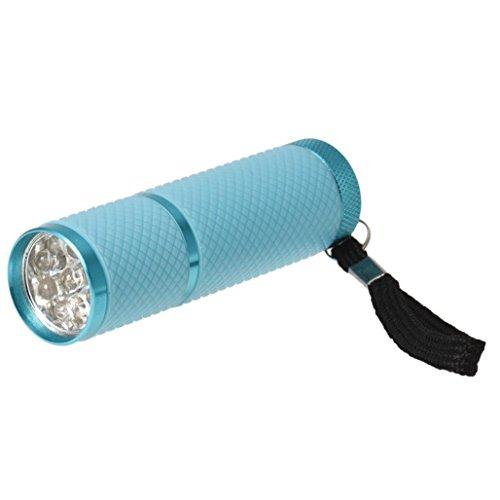 SODIAL Mini torche de sechage de lampe torche de polymerisation pour vernis de gel UV a ongles (bleu)