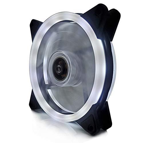 #N/V Ventilador de doble apertura Aurora, de 12 cm, ventilador RGB, carcasa de PC, con deslumbramiento, Coolercase Verstelbare computadora Koelventilator