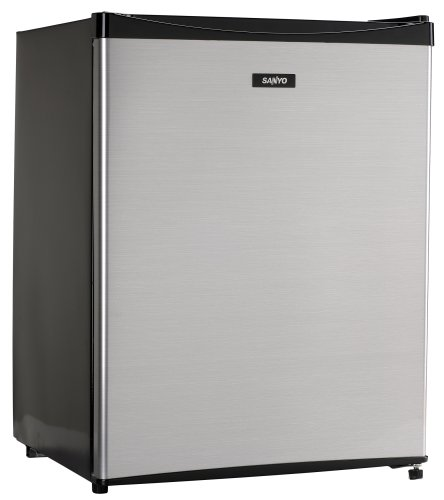 Sanyo SR-A2480M 2-2/5-Cubic-Foot Compact Mid-Size Refrigerator, Platinum