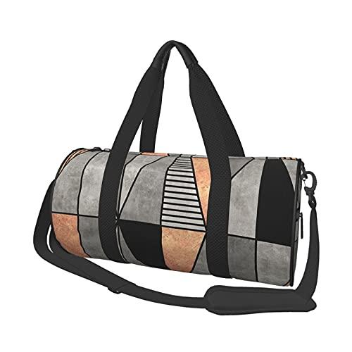 Bolsa de viaje para hombre y mujer, con triángulos de cobre, para deportes, gimnasios y escapada de fin de semana