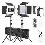 Neewer Kit de Iluminación para Fotografía con Luz de Video 2,4G 480 LED Avanzada con Bolsa LED Panel con Control Inalámbrico de 2,4G 660 LED Panel Softbox y Soporte para Fotografía de Retrato