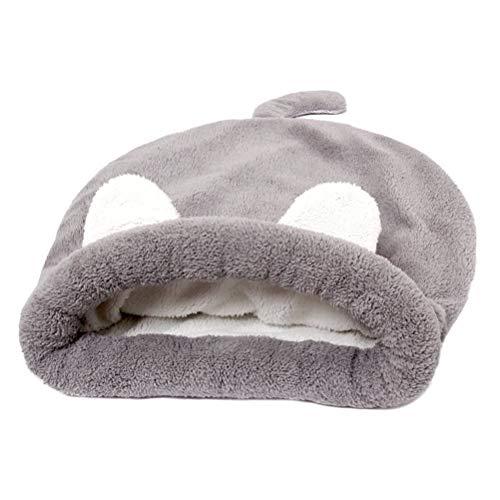 POPETPOP Saco de Dormir de Peluche para Perro Gato, Cama de Confortable y Caliente para Mascotas–Talla M (café)