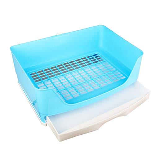 POPETPOP Caja de Arena de Conejo Inodoro de Plástico Arena para Animales Pequeños Orinal Entrenador Bandeja de Arena de Esquina Entrenamiento de Mascotas Inodoro para Hámster Jerbo