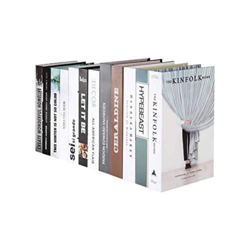 Healifty Libri Decorativi per la Fotografia di Arredamento Oggetti di Scena Modello Festival di Natale Arredamento Ufficio casa Negozio Studio Fotografico Ornamento