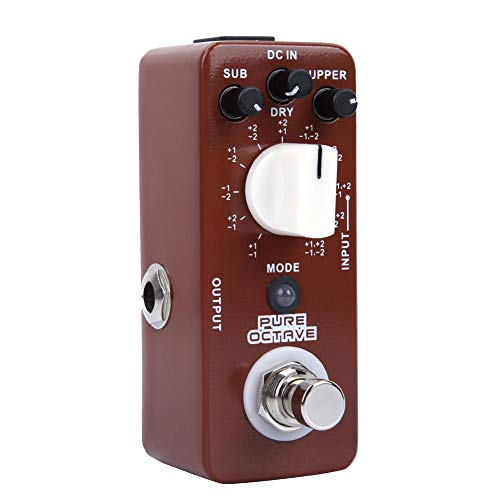 Bnineteenteam Mini Electric Guitar Octave Effect Pedal True bypass 11 Octave Modes