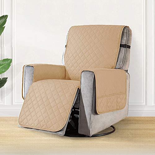 weichuang Funda de sofá reclinable con bolsillos, antideslizante, para mascotas, protector de muebles, funda de sofá