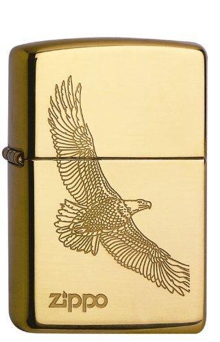 Zippo Zippo Feuerzeug 60001332 Eagle Brass Benzinfeuerzeug, Messing Gold