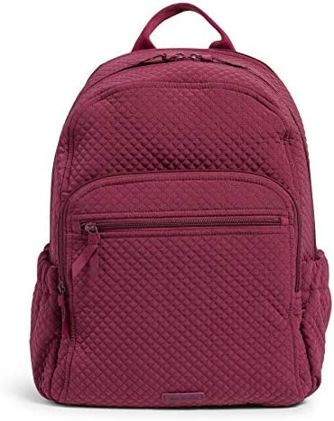 Vera Bradley Microfiber Campus Backpack Raspberry Radiance product image
