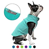 Gooby Dog Fleece Vest - Turquoise, Small - Pullover Dog Jacket with Leash Ring - Winter Small Dog Sweater - Warm Dog Clothes for Small Dogs Girl or Boy for Indoor and Outdoor Use