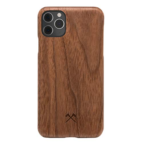 Woodcessories - Handyhülle kompatibel mit iPhone 11 Pro Hülle Holz, Echtholz - EcoSlim Case (Walnuss)