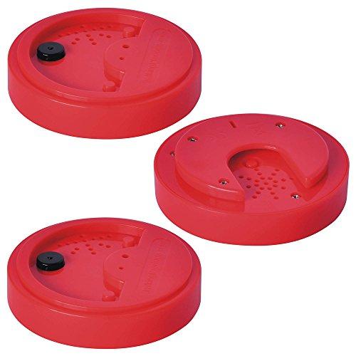 Gettoni parlanti, registratore vocale per le attività di linguaggio e ascolto, rosso, 40 secondi, set da 3
