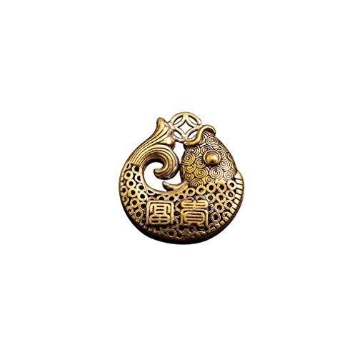 Antiker Messing Segen Fisch Schlüsselbund Anhänger Modeschmuck Lucky Pure Copper Auto Schlüsselanhänger Ring Hängende Männer Frauen Chinesisches Geschenk