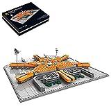 WWEI Aeropuerto de Pekín Street View de bloques de construcción, strucción modular, 930 piezas, edificios de vista de carreteras, compatible con el kit de construcción de casa Lego