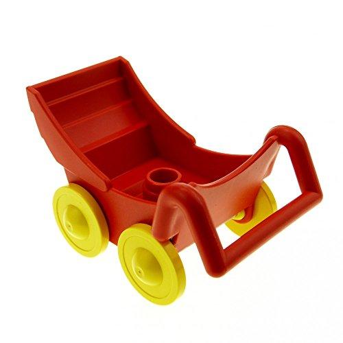 roter Kinderwagen Puppenwagen rot Lego Duplo A89
