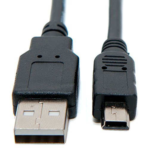 Cavo Mini USB Transfer Cable Compatibile con Canon Digital IXUS 160, 162, 165, 170, 172, 185, 210, 220 HS, 230 HS, 240 HS, 255 HS, 265 HS, 275 HS, 300 HS, 310 HS, 500 HS, 510 HS Foto Video (0,8M)