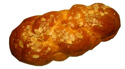 Greek Sweet Bread, Long, Tsoureki, 1lb with Almonds